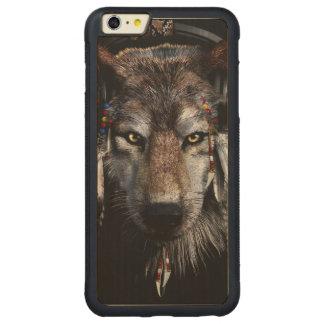 Lobo indio - lobo gris funda para iPhone 6 plus de carved® de nogal