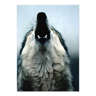Lobo mexicano especie en peligro desierto de Son Invitación Personalizada