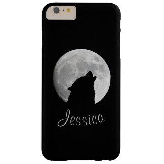Lobo que grita en la Luna Llena, su nombre Funda Barely There iPhone 6 Plus