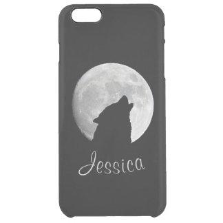 Lobo que grita en la Luna Llena, su nombre Funda Transparente Para iPhone 6 Plus