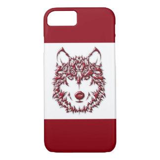Lobo rojo funda iPhone 7