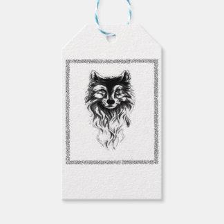 Lobo salvaje etiquetas para regalos