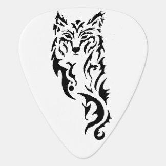 Lobo tribal púa de guitarra