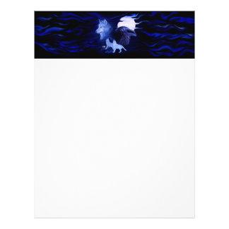 Lobo y cuervo con la Luna Llena Flyer Personalizado