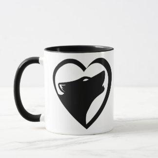 Lobos del amor (logotipo de la serie del taza