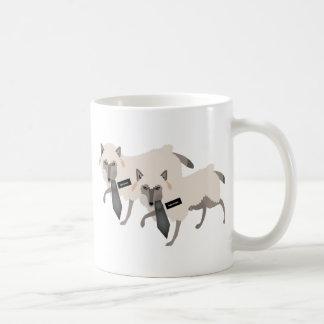 Lobos en ovejas taza de café
