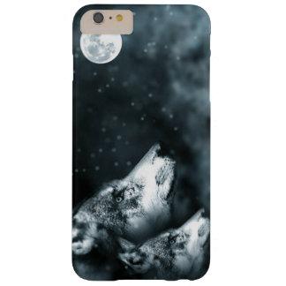 Lobos y caso del iPhone de la luna Funda Barely There iPhone 6 Plus