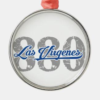 Locals 880 de Las Virgenes Adorno Redondo Plateado