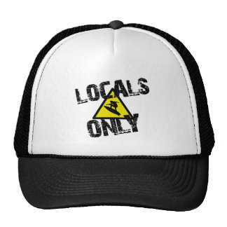 Locals only navegar peligro sign surf gorros bordados
