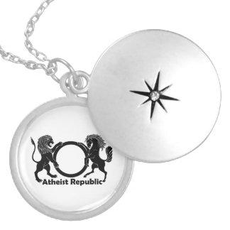 Locket ateo de la república collares personalizados