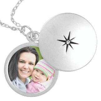 Locket personalizado de la plata esterlina collar con colgante