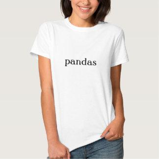 Loco para fan del oso de panda de la camiseta de