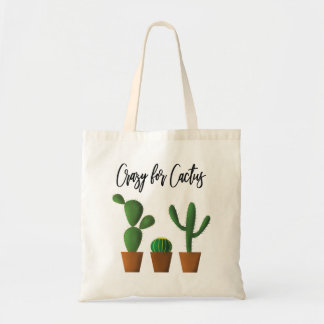 Loco para la bolsa de asas del cactus