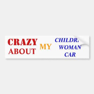 loco por mi niño-mujer-car pegatina para coche