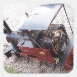 Locomotora de vapor miniatura pegatina cuadradas