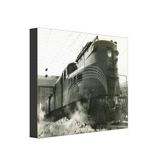 Locomotora GG-1 #4800 del ferrocarril de Lienzo