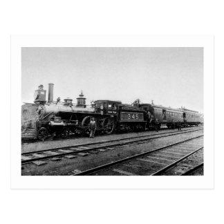 Locomotora magnífica 345 del tronco - vintage postal