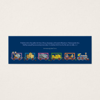 Locomotora misteriosa - señal para los niños tarjeta de visita pequeña