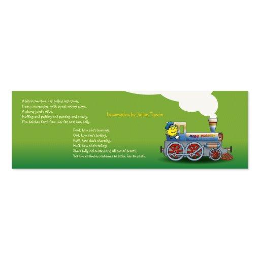 Locomotora misteriosa - señal para los niños plantillas de tarjetas de visita