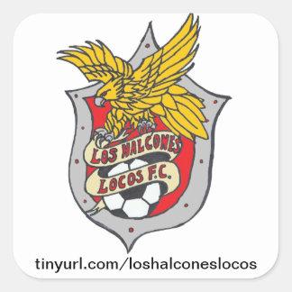Locos FC - cuadrado del Los Halcones del pegatina