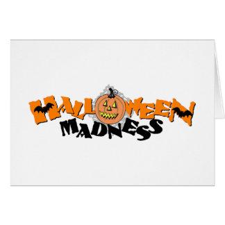Locura de Halloween Felicitacion