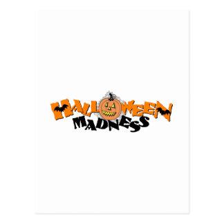 Locura de Halloween Postal