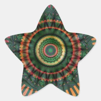 Locura de la mandala colcomanias forma de estrellas