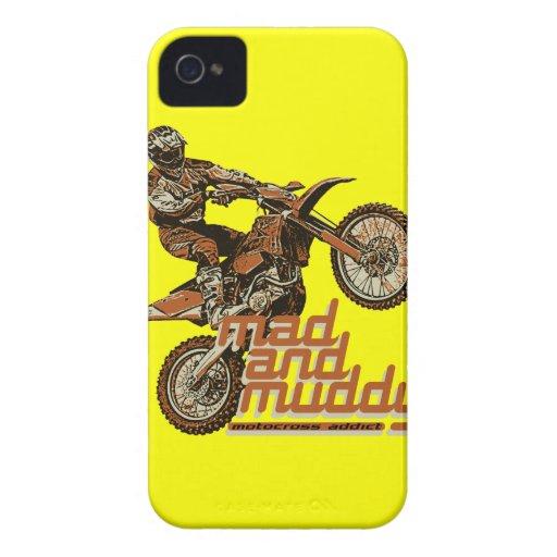 Locura del motocrós iPhone 4 Case-Mate funda