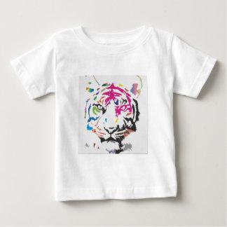 Locura rosada de la pantera camiseta de bebé