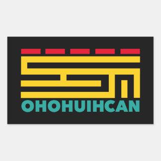 Logo OHOHUIHCAN Pegatina Rectangular