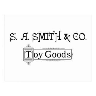 Logotipo 1888 de las mercancías del juguete de S Postal