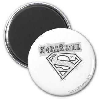 Logotipo 1 de Supergirl Imán Redondo 5 Cm