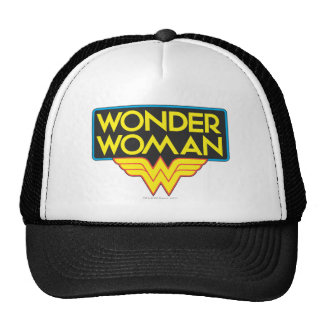 Logotipo 3 de la Mujer Maravilla Gorro De Camionero
