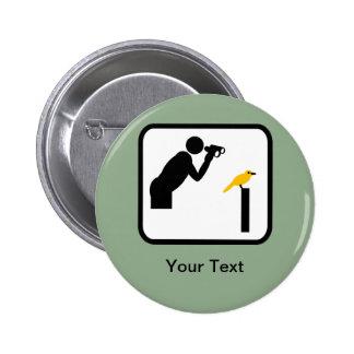 Logotipo adaptable del vigilante del Birder/de páj Pin