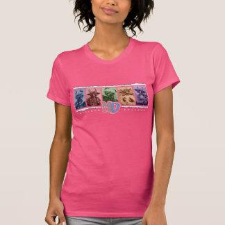 Logotipo American Apparel T, fucsia de la barra Camisetas