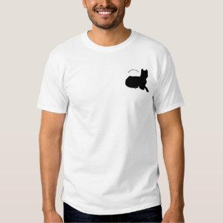 Logotipo americano del terrier de pitbull camisas
