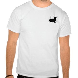 Logotipo americano del terrier de pitbull camiseta