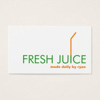 Logotipo anaranjado de la paja de Juicing Juice Tarjeta De Negocios