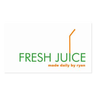 Logotipo anaranjado de la paja de Juicing Juice Tarjetas De Visita