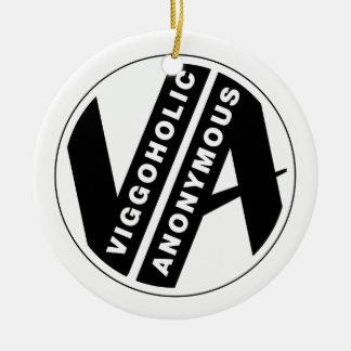 Logotipo anónimo de Viggo mono Adorno Navideño Redondo De Cerámica