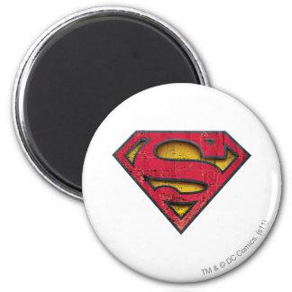 Logotipo apenado el | del S-Escudo del superhombre Imán Redondo 5 Cm