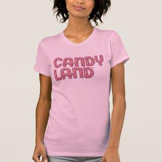 Logotipo apilado tierra del caramelo camiseta