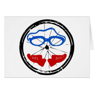 Logotipo artístico fresco del Triathlon Tarjeta De Felicitación
