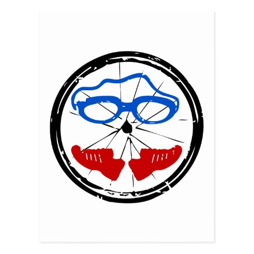 Logotipo artístico fresco del Triathlon Postales
