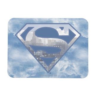 Logotipo azul claro de la ciudad del S-Escudo el | Imán