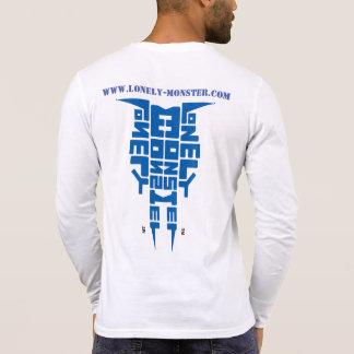 Logotipo azul y Web site del tótem tribal solo del Camiseta