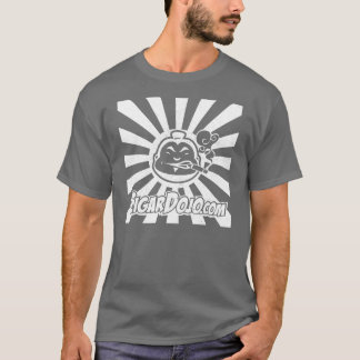 Logotipo blanco apenado del ir de discotecas en camiseta