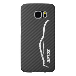 logotipo blanco de la silueta 350Z Funda Samsung Galaxy S6