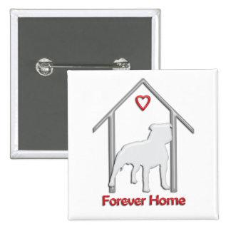 Logotipo blanco para siempre casero de Pitbull Pins