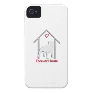 Logotipo blanco para siempre casero de Pitbull iPhone 4 Carcasa